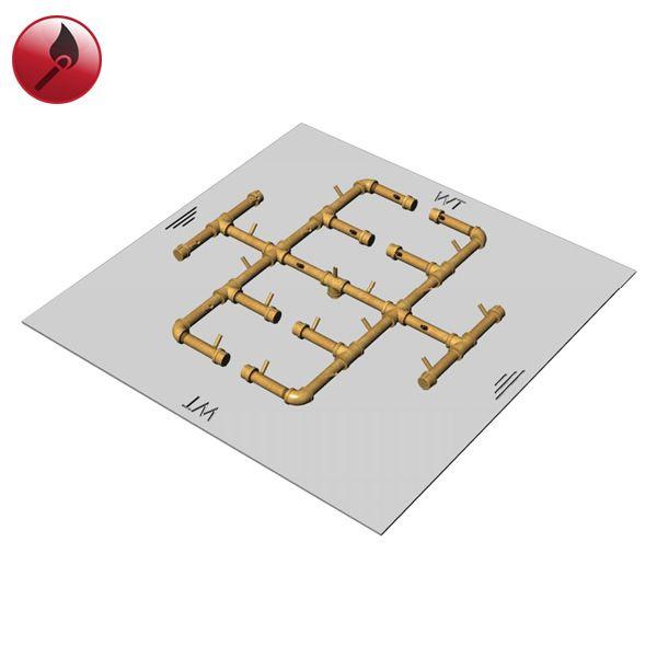 """300,000 BTU Square Match Lit Crossfire Burner System - 42"""" image number 0"""