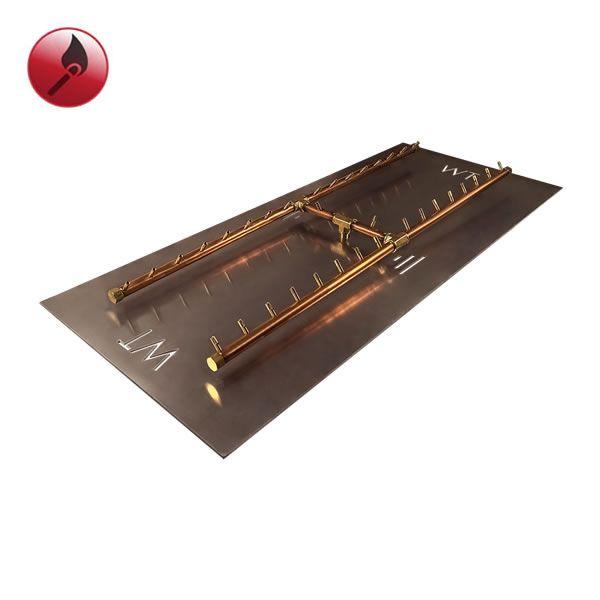 """340,000 BTU Match Lit Crossfire H-Burner System - 62"""" image number 0"""