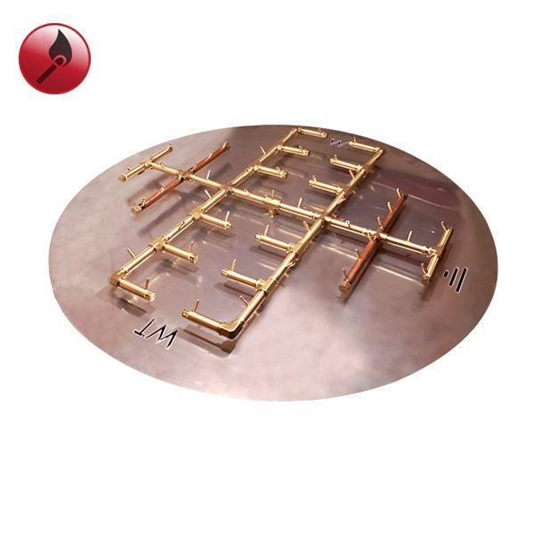 """450K BTU Round Match Lit Crossfire Burner System - 60"""" image number 0"""