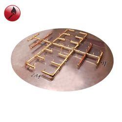 "450K BTU Round Match Lit Crossfire Burner System - 60"""