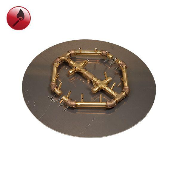 """180K BTU Octogonal Match Lit Crossfire Burner System - 24"""" image number 0"""