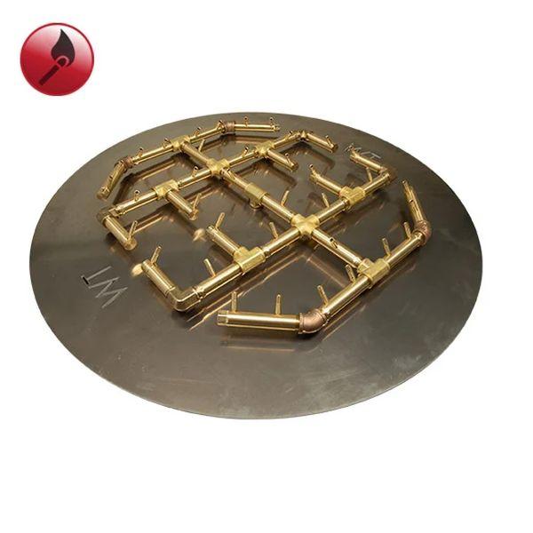 """360K BTU Octogonal Match Lit Crossfire Burner System - 42"""" image number 0"""