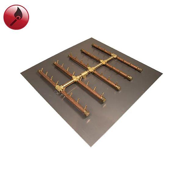 """400K BTU Square Tree Match Lit Crossfire Burner System - 36"""" image number 0"""