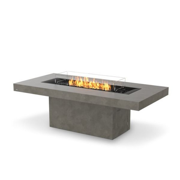 EcoSmart Fire Gin 90 Dining Height Gas Fire Pit Table image number 1