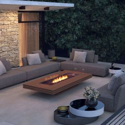 EcoSmart Fire Gin 90 Low Gas Fire Pit Table