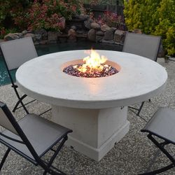 Mount Lassen Gas Fire Pit Table - Chat Height