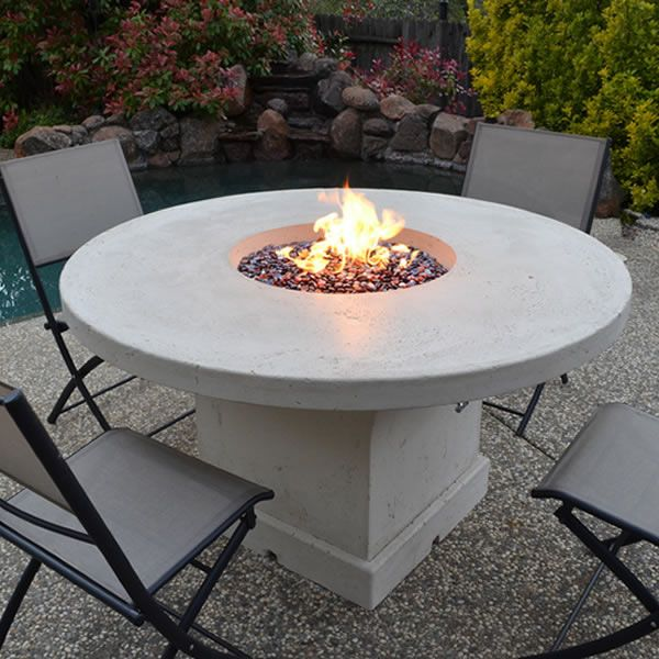 Mount Lassen Gas Fire Pit Table - Chat Height image number 0