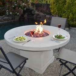 Mount Lassen Gas Fire Pit Table - Dining Height