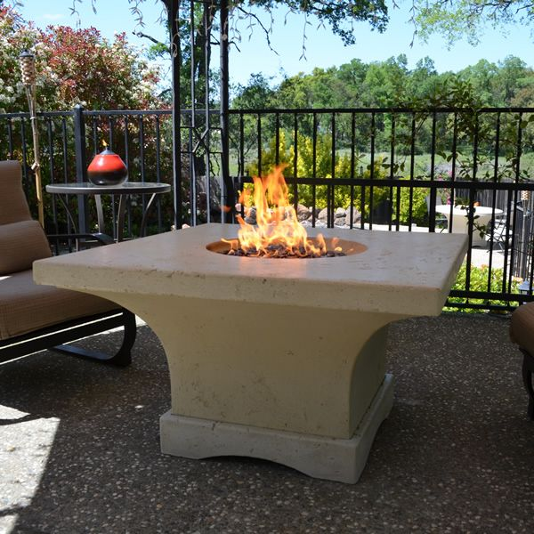 Mount Shasta Gas Fire Pit Table - Chat Height image number 1