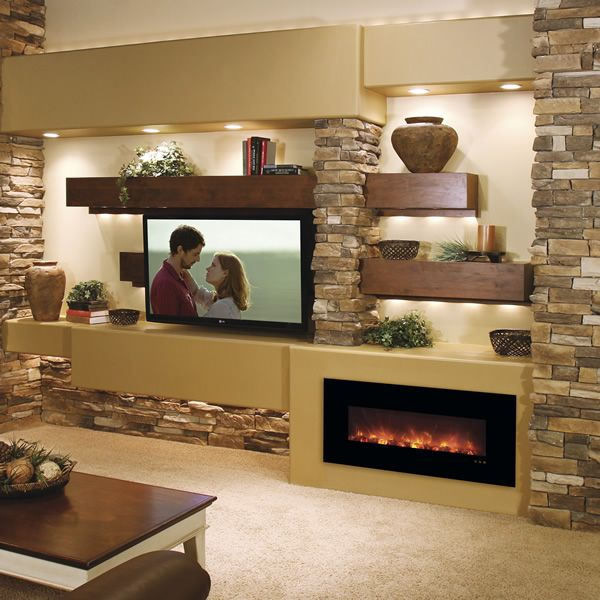 "Modern Flames Fantastic Flame Electric Fireplace - 43"" image number 0"