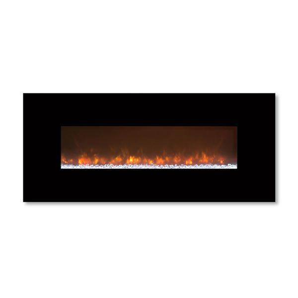 "Modern Flames 80"" Black Glass CLX2 Series Fireplace image number 1"