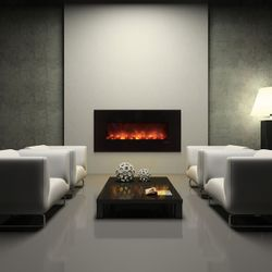"Modern Flames 60"" Black Glass CLX2 Series Fireplace"