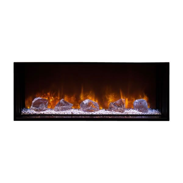"Modern Flames Landscape Fullview Series Linear Electric Fireplace -100"" image number 1"