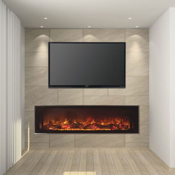 "Modern Flames Landscape Fullview Series Linear Electric Fireplace -60"" image number 0"