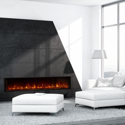 Modern Flames Landscape Fullview Series Linear Electric Fireplace - 80""