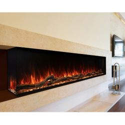 "Modern Flames Landscape Pro Multi-Side Electric Fireplace - 96"""