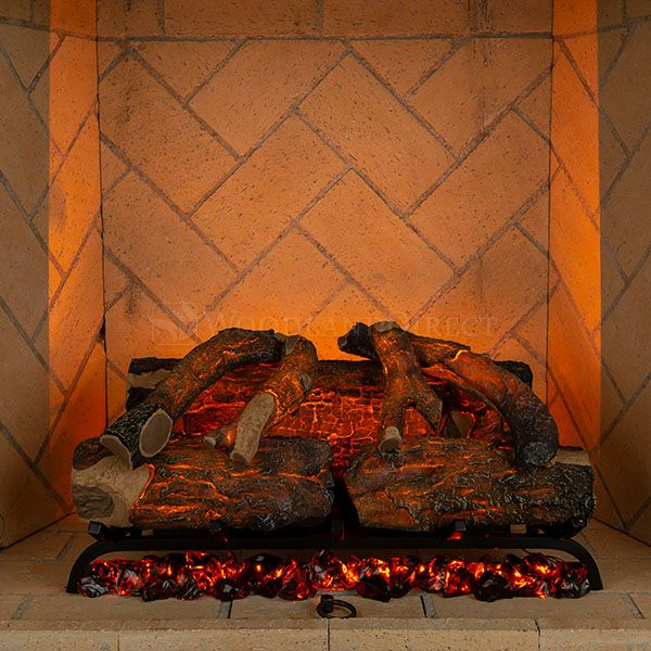 Modern Flames Sunset Charred Oak Electric Log Set image number 0