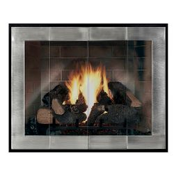 Moderne - Original Masonry Fireplace Glass Door