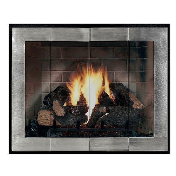Moderne - Original Masonry Fireplace Glass Door image number 0
