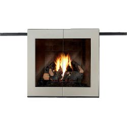 Moderne Roller Fireplace Glass Door
