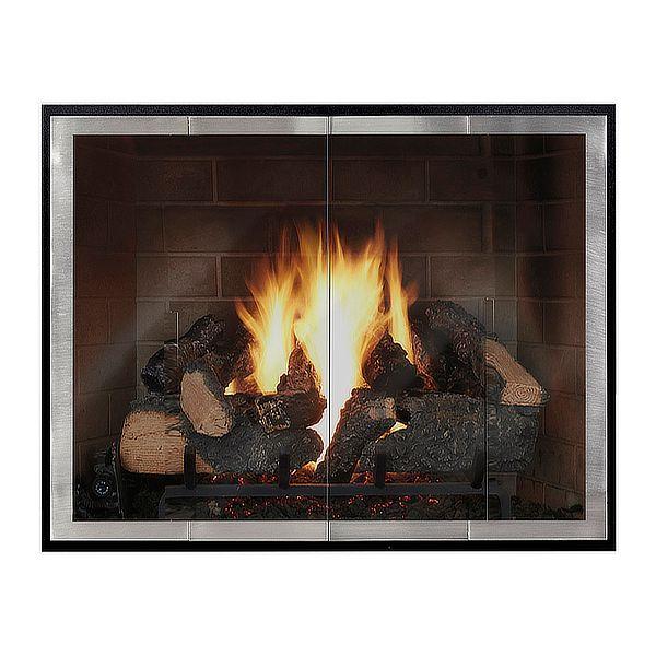 Moderne - Slim Masonry Fireplace Glass Door image number 0