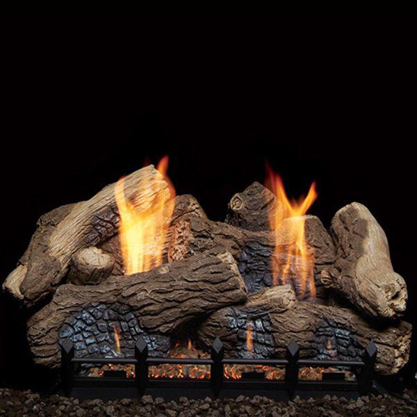 Monessen Berkley Oak Ceramic Fiber Ventless Gas Log Set image number 0