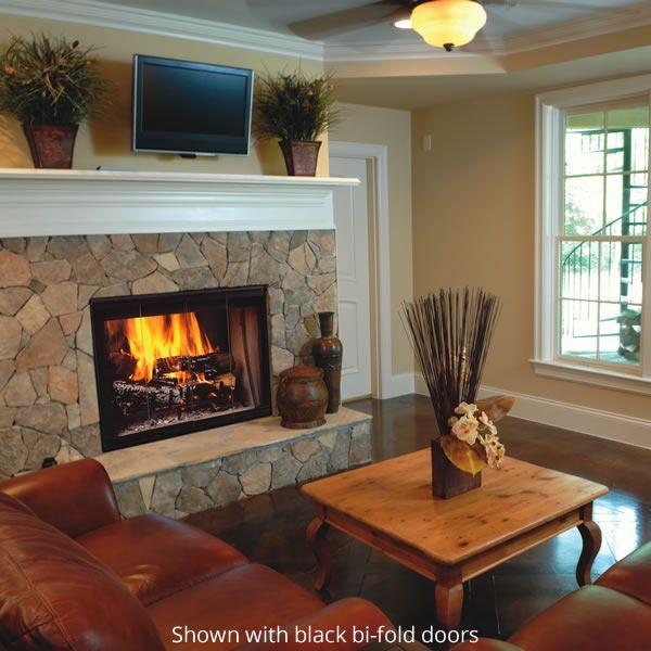 Majestic Designer See Through Wood Burning Fireplace image number 1