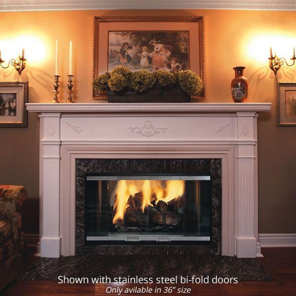 Majestic Designer See Through Wood Burning Fireplace image number 0