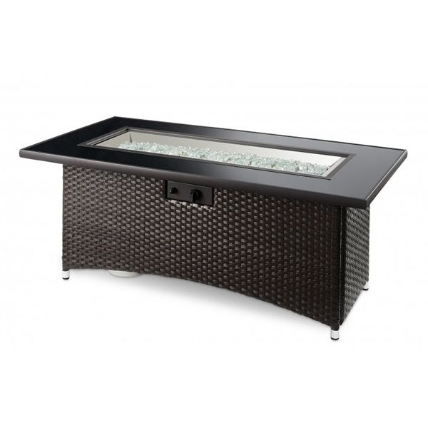 Montego Gas Fire Pit Table - Brown image number 1