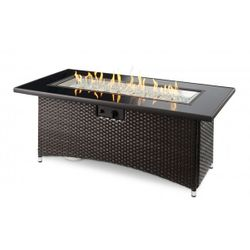 Montego Gas Fire Pit Table - Brown