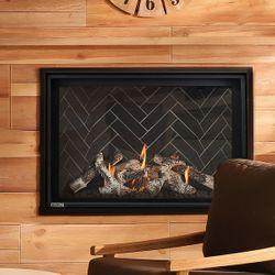 """Montigo Delray Square Direct Vent Gas Fireplace - 38"""""""
