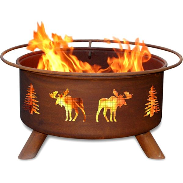 Moose & Trees Fire Pit image number 0