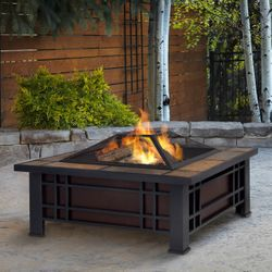 Real Flame Morrison Wood Burning Fire Pit