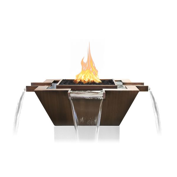 Maya Copper 4-Way Fire & Water Bowl image number 0