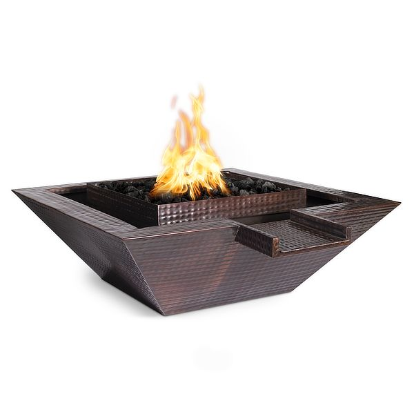 Maya Copper Fire & Water Bowl - Gravity Spill image number 0