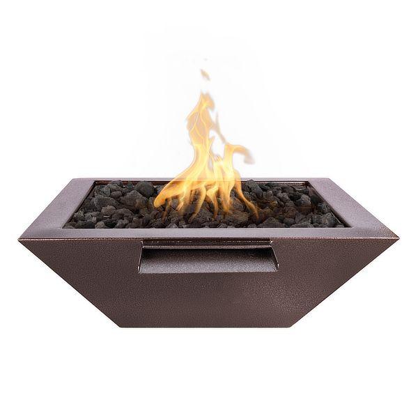 Maya Powder Coat Steel Fire & Water Bowl image number 0