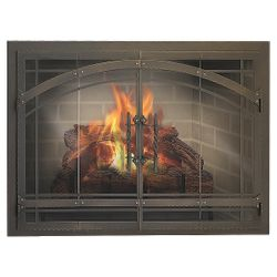 Madrid Masonry Fireplace Glass Door