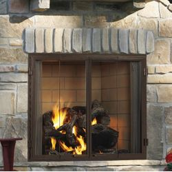 """Majestic Castlewood Outdoor Fireplace - 42"""""""