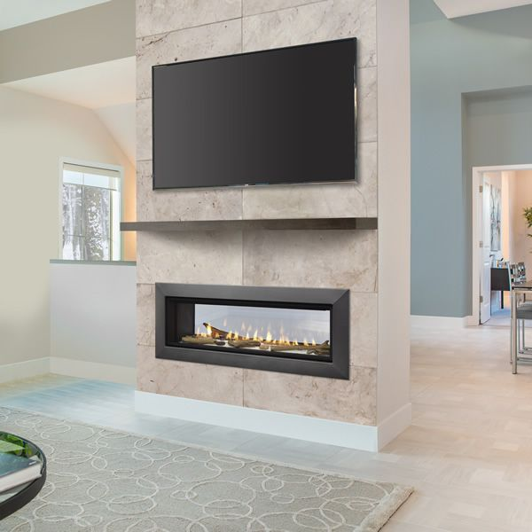 "Majestic Echelon See Through Direct Vent Gas Fireplace - 48"" image number 0"
