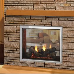 Majestic Fortress Indoor/Outdoor See-Through Direct Vent Gas Fireplace
