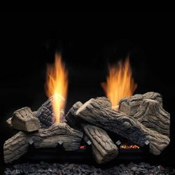 Monessen Natural Blaze See-Through Ventless Gas Log Set