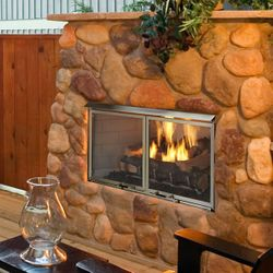 "Majestic Villa Gas Outdoor Fireplace - 36"""