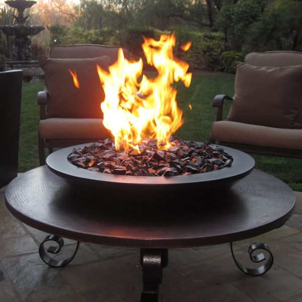 Marsili Copper Gas Fire Pit image number 0