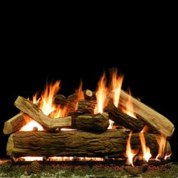 "Massive Oak Vented Ceramic Gas Log Set - 48"""