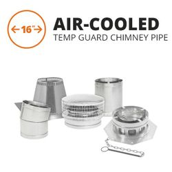 Metal-Fab Air-Cooled Temp Guard Chimney Pipe - 16""