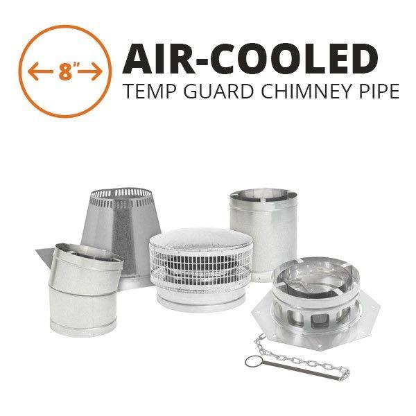 "Metal-Fab Air-Cooled Temp Guard Chimney Pipe - 8"" image number 0"