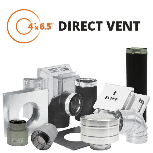 """Metal-Fab Direct Vent Chimney Pipe - 4"""" x 6.5"""" image number 0"""