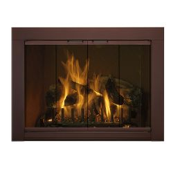Medio Custom Masonry Fireplace Glass Door