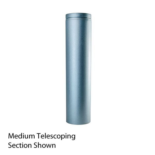 "Medium Unpainted DV Pipe Telescoping Section - 4"" Dia image number 0"