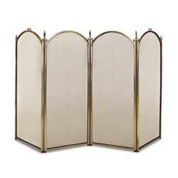 "Mendocino Four Panel Fireplace Screen - 51 3/8"" x 29 7/8"""
